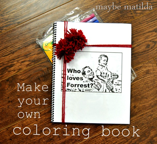 How to make your own personalized coloring book