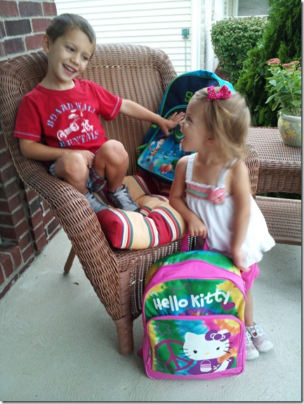 first day preschool siblings