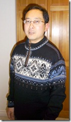 Me in Nordic sweater