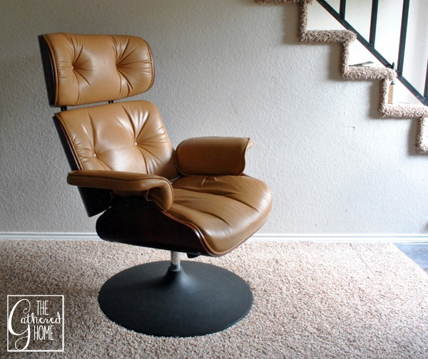 Found Eames Style Lounge Chair with Tulip Base The Gathered Home