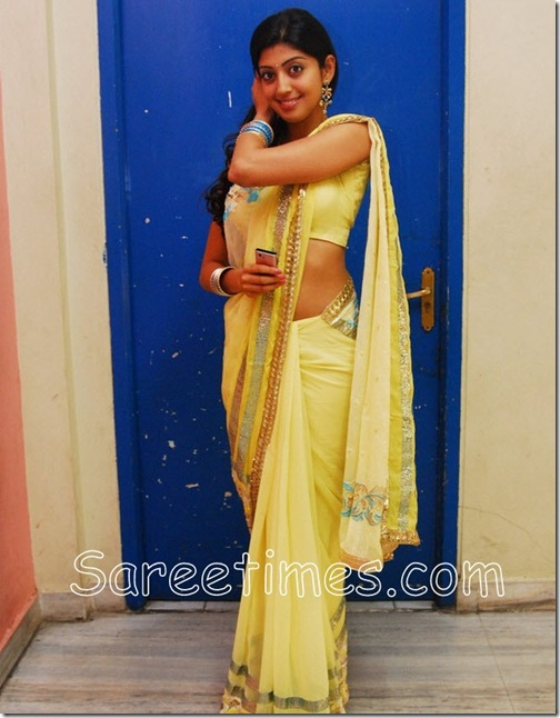 Pranitha_Yellow_Saree