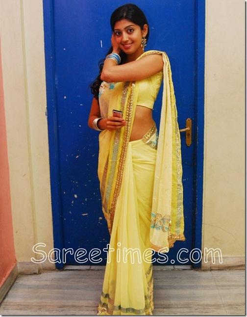 Pranitha_Yellow_Saree