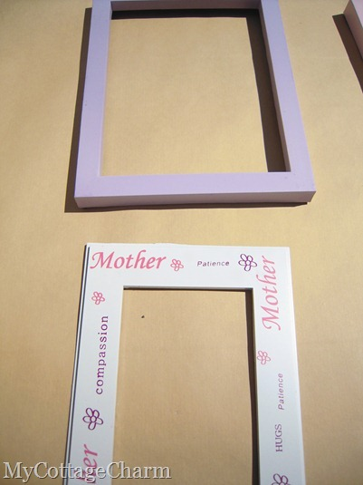 how to re-do an old frame