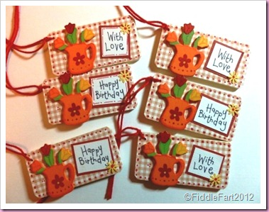 Wooden gingham gift tags