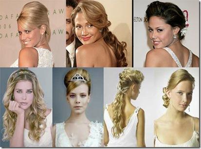 peinados de novia modernos elegantes con diadema de famosas