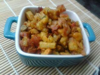Revuelto De Boniato Con Hinojo Y Bacon