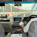 the cab ride from Haneda airport over the rainbow bridge into Roppongi in Roppongi, Tokyo, Japan