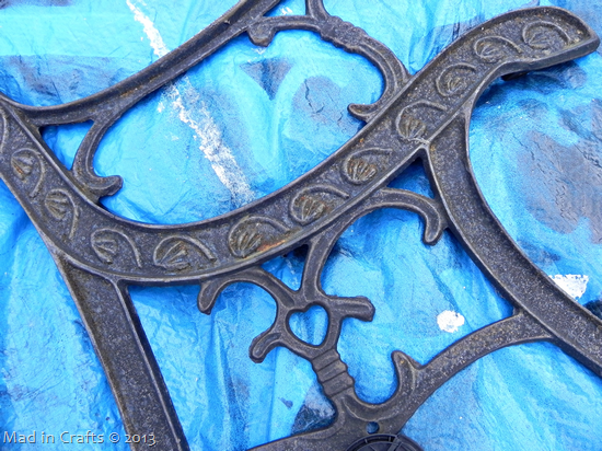 rusty wrought iron supports