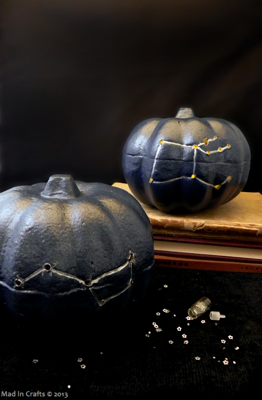 Drilled Constellation Pumpkins - Stargazer Pumpkins