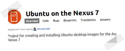 Ubuntu in Nexus 7 arrivano i PPA dedicati