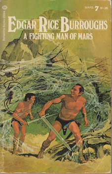 A fighting Man of Mars: cover by Gino d'Achille