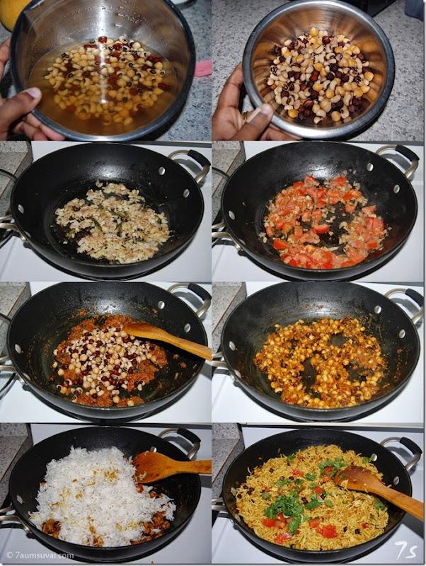 Mixed lentil rice process