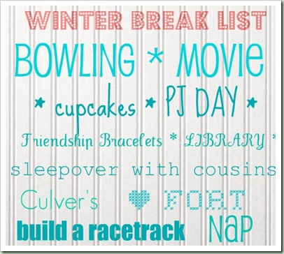winter list