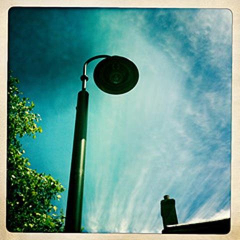 May - a street lamp