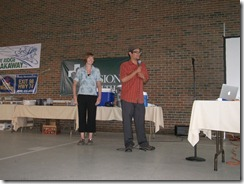 Russ Roca and Laura Crawford entertain crowd