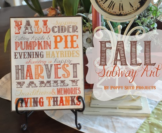 Super Saturday Craft Ideas - Fall Subway Art
