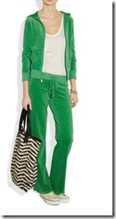Juicy Couture Velour Top in Green