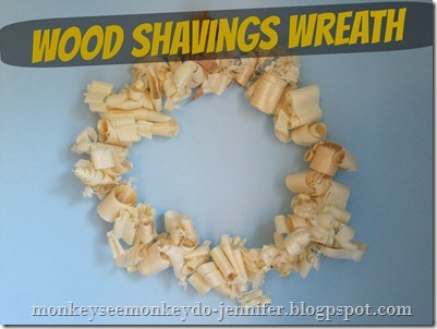 wood shaving wreath