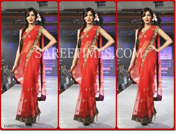 Red_Designer_Shimmer_Sari