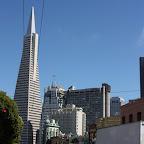 Au fond, le Transamerica Building. Contrairement aux villes de la cote Est, San Francisco a très peu de gratte-ciels.