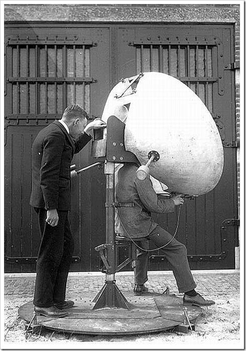 Из истории радиолокации - слуховая установка с параболической акустической антенной