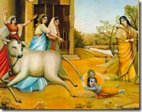 [Krishna holding cow's tail]