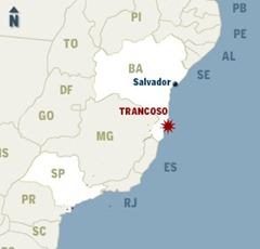 LOCALIZACAO TRANCOSO BAHIA