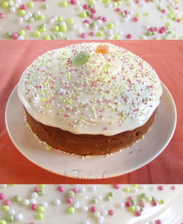 2014Jan19 Apricot Madeira Cake with Sprinkles