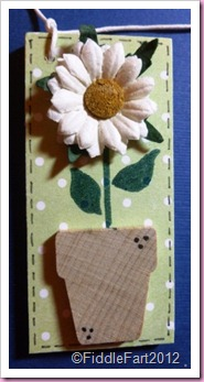 Flower Pot Wooden Tag