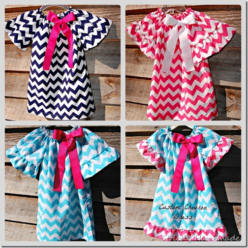 Chevron Dress Collage