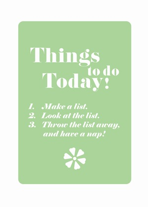 Things to do today_nap