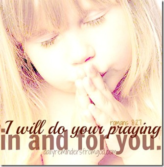 i will do your praying