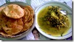 47 - Luchi & Split Peas with Spinach-Tomato
