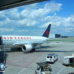 aircanada airplane in Mississauga, Ontario, Canada