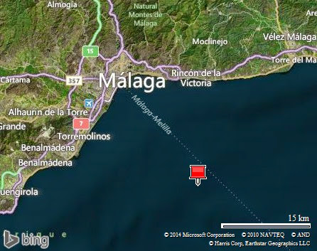 envol de Malaga, son port