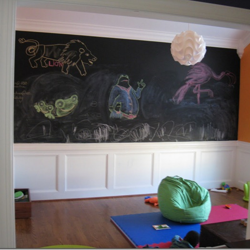 Zion's chalkboard wall