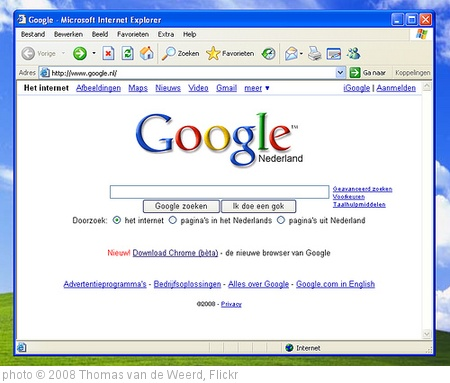 'Google Chrome' photo (c) 2008, Thomas van de Weerd - license: http://creativecommons.org/licenses/by/2.0/