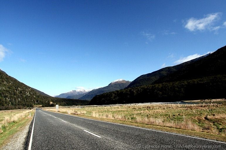 New Zealand road through Haast Pass