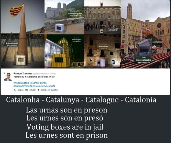 Catalogne Catalunya Catalonha las urnas en preson