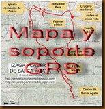Mapa y soporte GPS -CUEVA DE LOS MOROS - FOZ DE BENASA - DÓLMENES DE NAVASCUÉS