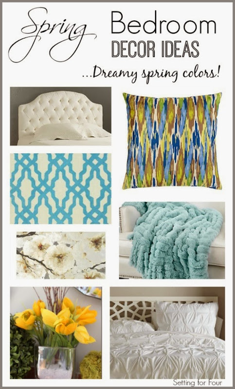 Spring Bedroom Decor Mood Board Ideas