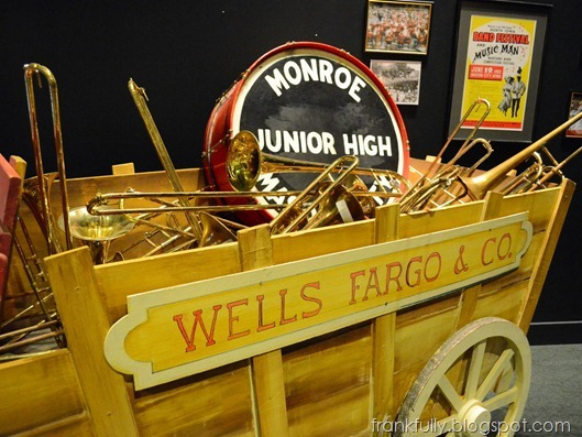 Seventy-six trombones in the Wells Fargo wagon!