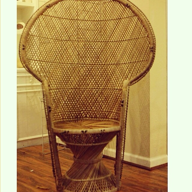 run to radiance wicker peacock chair