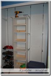Closet Organization and Shoe Shelves {A Sprinkle of This . . . . A Dash of That}