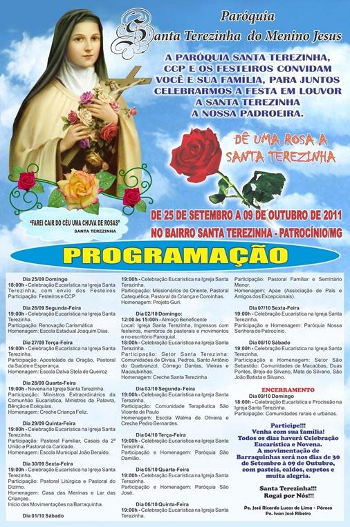 Cartaz_Santa_Terezinha_2011 - CLIQUE PARA AMPLIAR