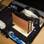 packing my suitcase - everything has a specific spot in Chiba, Tokyo, Japan