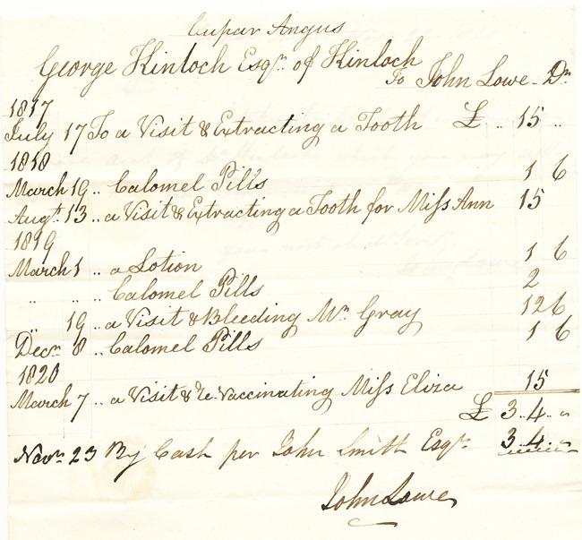 1820 medical bill