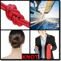 KNOT- 4 Pics 1 Word Answers 3 Letters