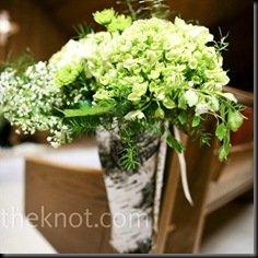 flowers bundled - green