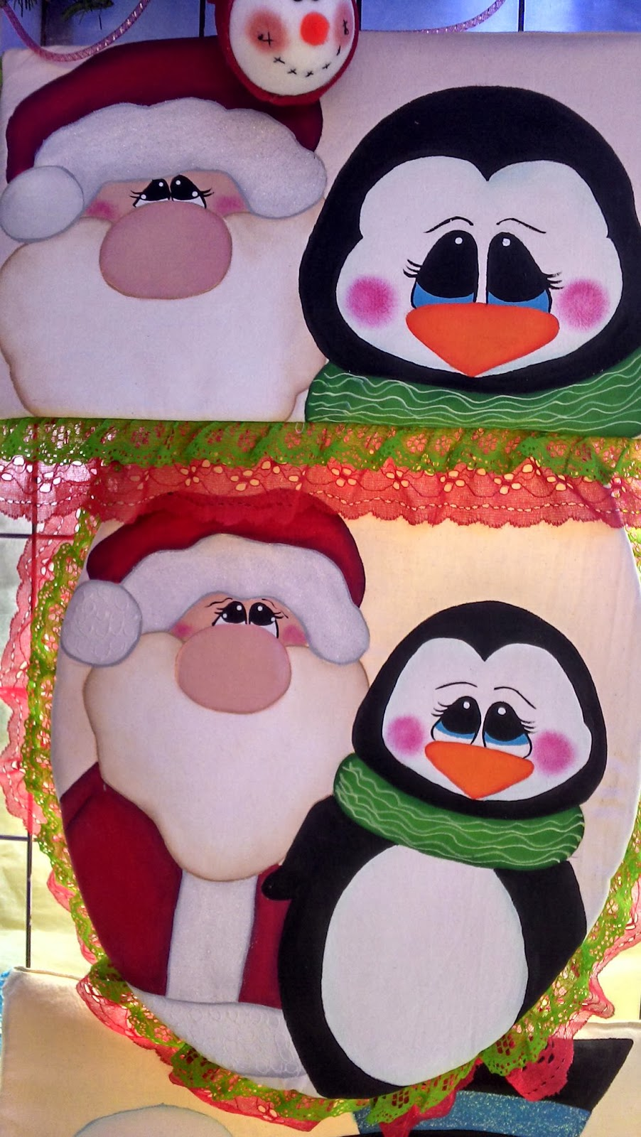Juegos De Baño Corona:MANUALIDADES IRETH: Juego de baño santa y pinguino
